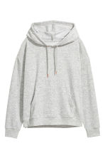 Pyjamas with a top and shorts - Grey/Velour - Ladies | H&M 3