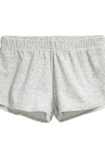 Pyjamas with a top and shorts - Grey/Velour - Ladies | H&M CN 5