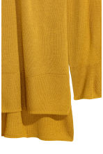 Fine-knit jumper - Mustard yellow - Ladies | H&M 3