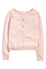 Fine-knit cardigan - Light pink marl -  | H&M CA 2