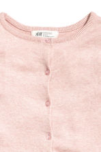 Fine-knit cardigan - Light pink marl -  | H&M CA 3