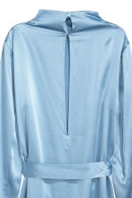 Silk dress - Pigeon blue - Ladies | H&M CN 3