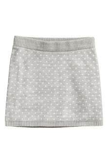 Jacquard-knit skirt