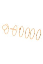 6-pack rings - Gold - Ladies | H&M IE 1