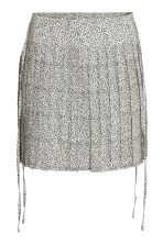 Pleated skirt - Light beige/Pattern - Ladies | H&M 2