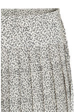 Pleated skirt - Light beige/Pattern - Ladies | H&M 3