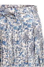 百褶裙 - Light beige/Floral - Ladies | H&M 3