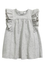 Premium Cotton Dress - Grey marl - Kids | H&M CA 1