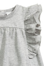 Premium cotton dress - Grey marl - Kids | H&M 2