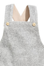 Cotton velour dungarees - Grey - Kids | H&M 4
