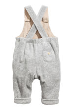 Cotton velour dungarees - Grey - Kids | H&M 2