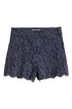 Lace shorts - Dark blue - Ladies | H&M CN 2