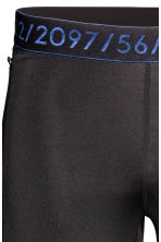 Running tights - Black - Men | H&M 4