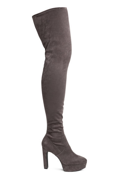 Thigh boots - Dark grey - Ladies | H&M
