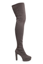 Thigh boots - Dark grey - Ladies | H&M CN 1
