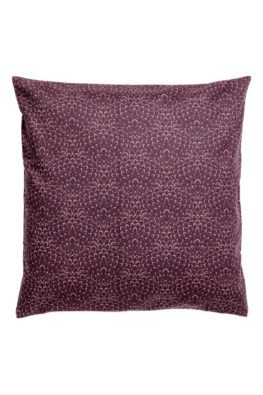 Patterned cushion cover - Dark purple/Patterned -  | H&M IE