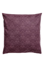 Patterned cushion cover - Dark purple/Patterned - Home All | H&M CN 1