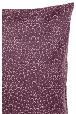 Patterned cushion cover - Dark purple/Patterned - Home All | H&M CN 2