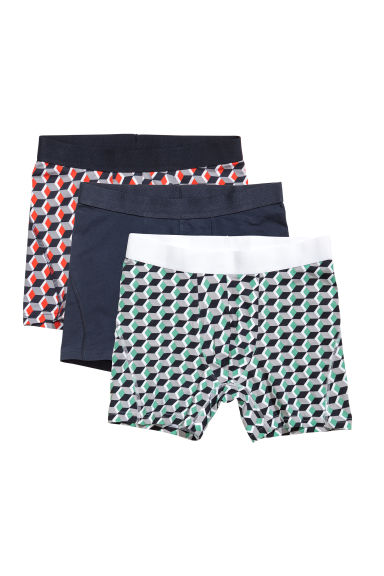 3 boxershorts - Mid trunk - Zwart/dessin -  | H&M BE