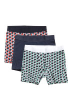 3-pack mid trunks - Black/Patterned - Men | H&M CN 2