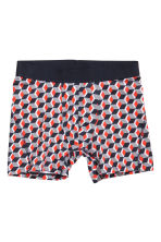 3-pack mid trunks - Black/Patterned - Men | H&M CN 3