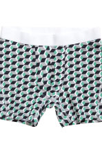 3-pack mid trunks - Black/Patterned - Men | H&M CN 5