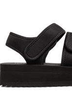 Scuba platform sandals - Black - Ladies | H&M 4