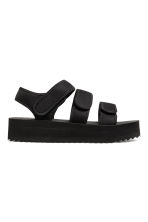 Scuba platform sandals - Black - Ladies | H&M 1