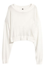 Jumper with wrapover back - White - Ladies | H&M 2