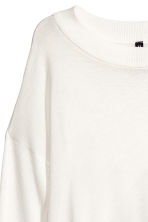 Jumper with wrapover back - White - Ladies | H&M 4
