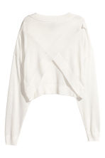 Jumper with wrapover back - White - Ladies | H&M 3