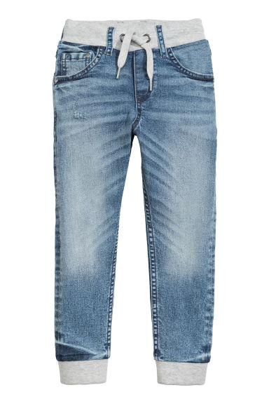Super Soft denim joggers - Light denim blue -  | H&M 1