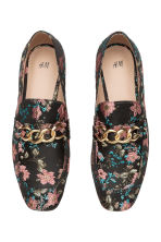 Jacquard-patterned shoes - Black/Floral - Ladies | H&M 3