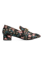 Jacquard-patterned shoes - Black/Floral - Ladies | H&M 2