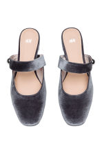 Slip-on velour sandals - Grey - Ladies | H&M CA 2