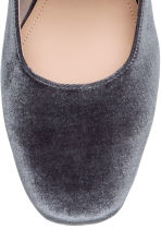 Slip-on velour sandals - Grey - Ladies | H&M CA 3