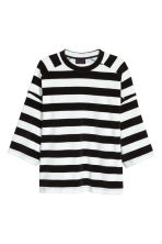 Oversized T-shirt - Black/White striped - Men | H&M 1