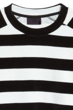 Oversized T-shirt - Black/White striped - Men | H&M 2