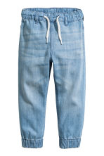 Denim joggers - Light denim blue - Kids | H&M CN 1