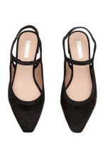 Suede slingbacks - Black - Ladies | H&M CN 2