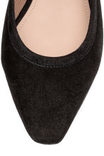 Suede slingbacks - Black - Ladies | H&M CN 3