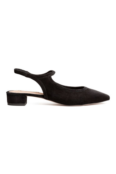 Suede slingbacks - Black - Ladies | H&M CN 1