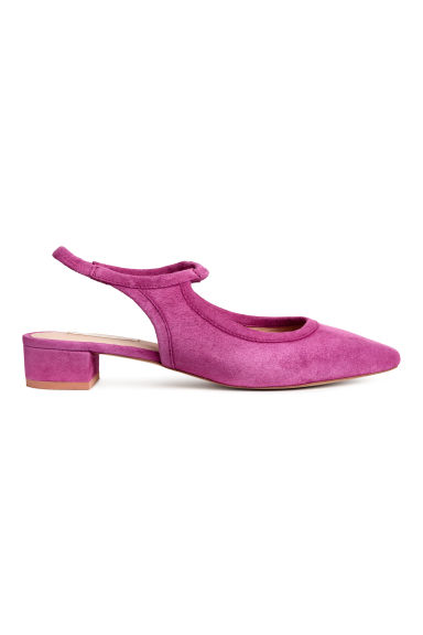 Suede slingbacks - Cerise - Ladies | H&M IE