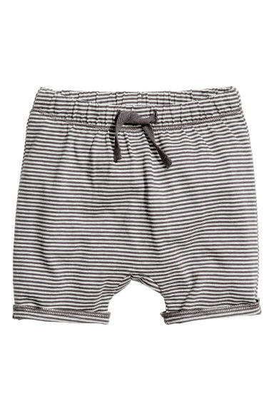 Jersey shorts - Dark grey/Striped -  | H&M 1