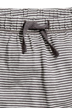 Jersey shorts - Dark grey/Striped -  | H&M 2
