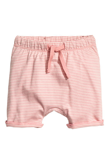 Jersey shorts - Light pink/Striped - Kids | H&M CN 1