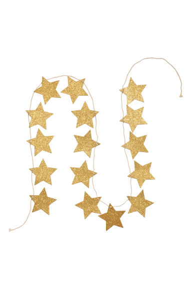 Glittery star garland - Gold-coloured - Home All | H&M CN 1