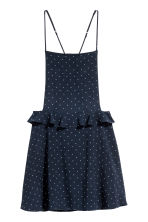 Spotted dress - Dark blue/Spotted - Ladies | H&M CN 2