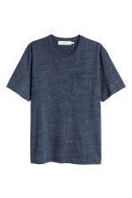 Marled T-shirt - Dark blue - Men | H&M CN 2