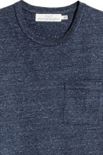 Marled T-shirt - Dark blue - Men | H&M CN 3